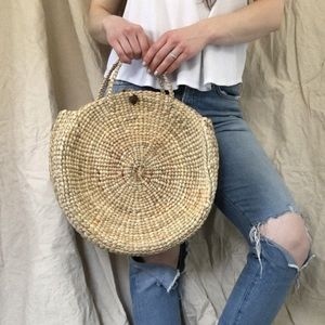 ONE LEFTWoven Bali beach bag straw bag summer tote